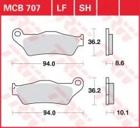 Bremsbelag TRW hinten  BMW R 1150 GS, Evo ABS   99-11/01   MCB707
