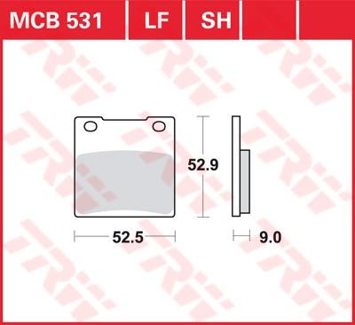 Bremsbelag TRW hinten  Suzuki GSF 1200 S, Bandit   01-05   MCB531