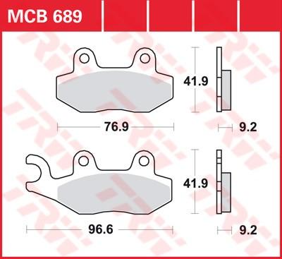 Bremsbelag TRW vorne Benelli  125 Caffe Nero    11-  MCB689EC