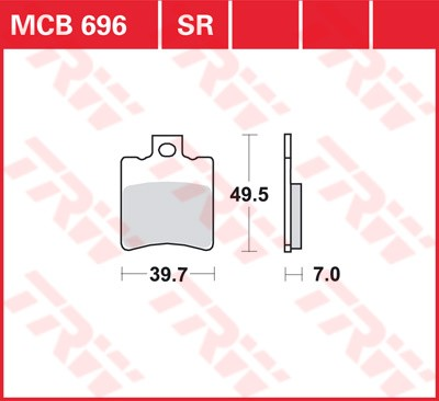 Bremsbelag TRW vorne Benelli   125 Velvet,    M1 99-07  MCB696