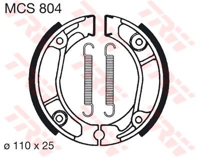 Bremsbelag TRW vorne Honda CT 110 X   05-09  MCS804