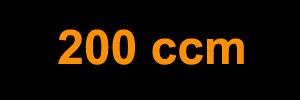 200 ccm