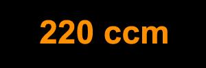 220 ccm