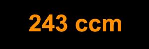 243 ccm