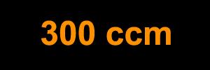 300 ccm