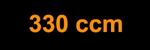 330 ccm