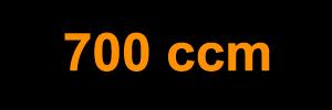 700 ccm