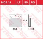 Bremsbelag TRW hinten  Laverda   1000 Jota   76-   MCB19