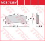 Bremsbelag TRW vorne Ducati  1199 Panigale, S, R, ABS   12-  MCB792SRQ