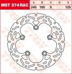 Bremsscheibe TRW hinten starr RAC Yamaha FZ1 1000 , Fazer, ABS RN16 06-  MST374RAC